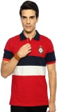 Byford Solid Men's Polo Neck Red T-Shirt
