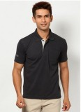 Riverstone Solid Men's Polo Neck Grey T-...