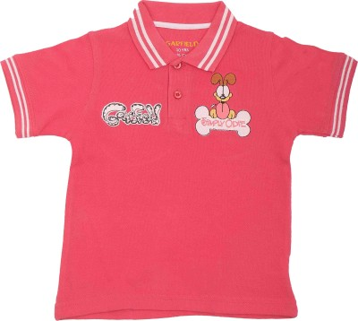 Garfield Printed Boy's Polo Neck T-Shirt