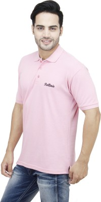 Rollinia Solid Men's Polo Pink T-Shirt