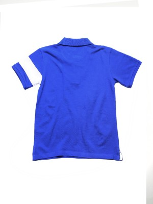 WROGN Solid Boy's Polo Neck Blue T-Shirt