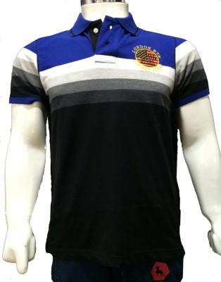 London Eye Striped Men,s Polo Multicolor T-Shirt