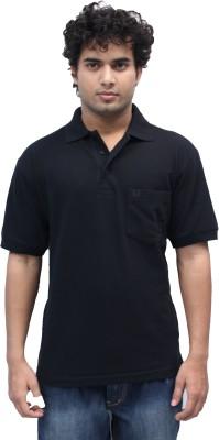 Romano Solid Men's Polo Black T-Shirt