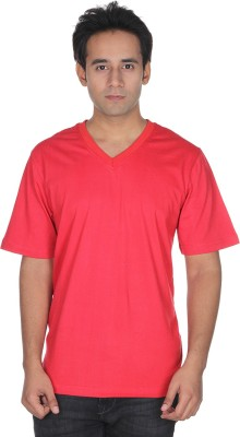 Zegen Solid Men's V-neck T-Shirt