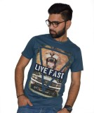 Armoire Printed Men's Round Neck Blue T-...