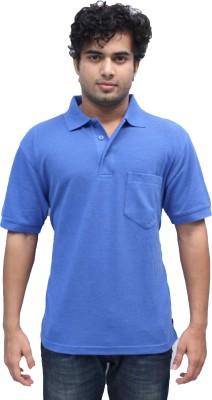 Romano Solid Men's Polo Light Blue T-Shirt