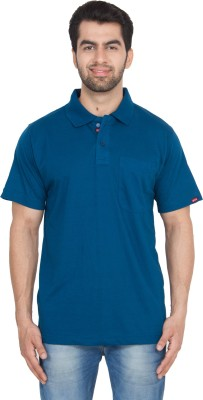 GIO Solid Men's Polo Neck Black, Blue, White, Beige, Dark Blue T-Shirt