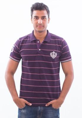 Punjabi Heritage Striped Men,s Polo T-Shirt