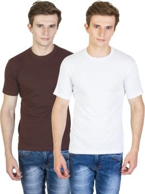 Rexler Solid Men's Round Neck Multicolor T-Shirt