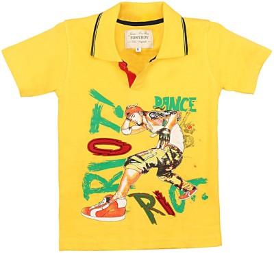 Tonyboy Printed Boy's Polo Neck T-Shirt