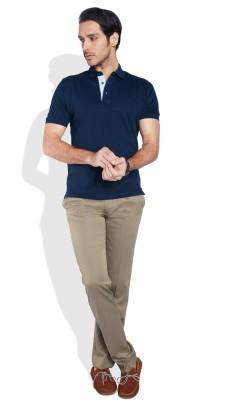 ColorPlus Solid Men's Polo Neck T-Shirt