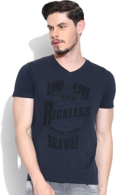 Pepe Jeans Printed Men's V-neck T-Shirt
