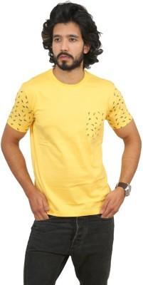 Men In Class Printed Men's Round Neck Yellow T-Shirt