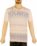 VR Designers Paisley Men's V-neck Multic...
