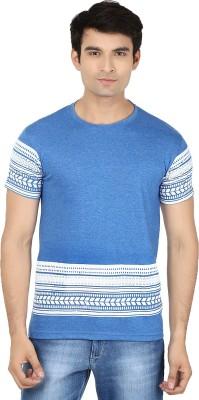 Minute Merge Printed Men's Round Neck Blue, White T-Shirt