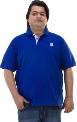BIGBANANA Solid Men's Polo Dark Blue T-Shirt