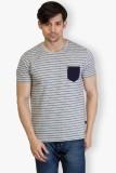 Taanz Self Design Men's Round Neck Grey ...