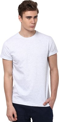 Aventura Outfitters Solid Men's Round Neck White T-Shirt