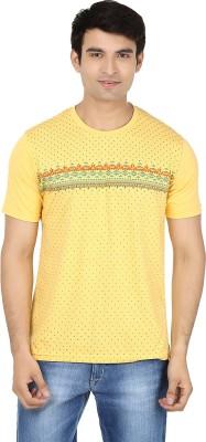 Minute Merge Printed Men's Round Neck Yellow, Green T-Shirt