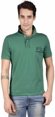 Royal Sport League Solid Men's Polo Neck Green T-Shirt