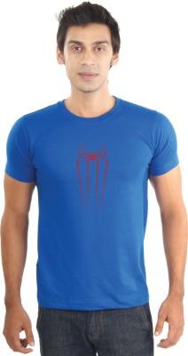 Lacrafters Graphic Print Men's Round Neck Blue T-Shirt