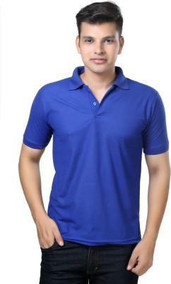 eSOUL Solid Men's Polo Neck Blue T-Shirt