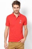 Srota Solid Men's Polo Neck Red T-Shirt