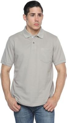 Tempt Solid Men's Polo Neck Grey T-Shirt