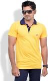 Chakravarthi Solid Men's Polo Neck Yello...