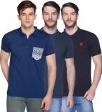 CLUB YORK Solid Men's Polo Neck Multicol...
