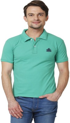 ABLOOM Solid Men's Polo Neck Green T-Shirt