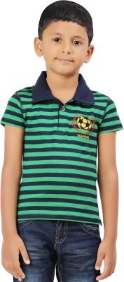 Ventra Striped Boy's Polo Neck T-Shirt