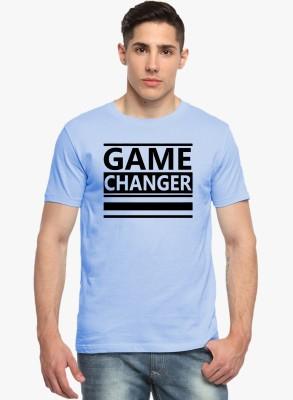 Sharq Printed, Graphic Print Men's Round Neck Light Blue T-Shirt