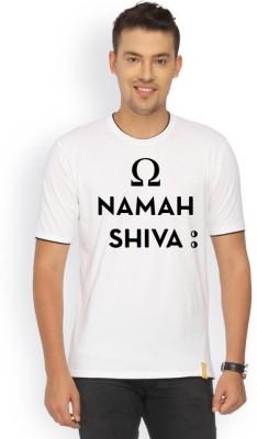 Campus Sutra Printed Men's Round Neck White T-Shirt