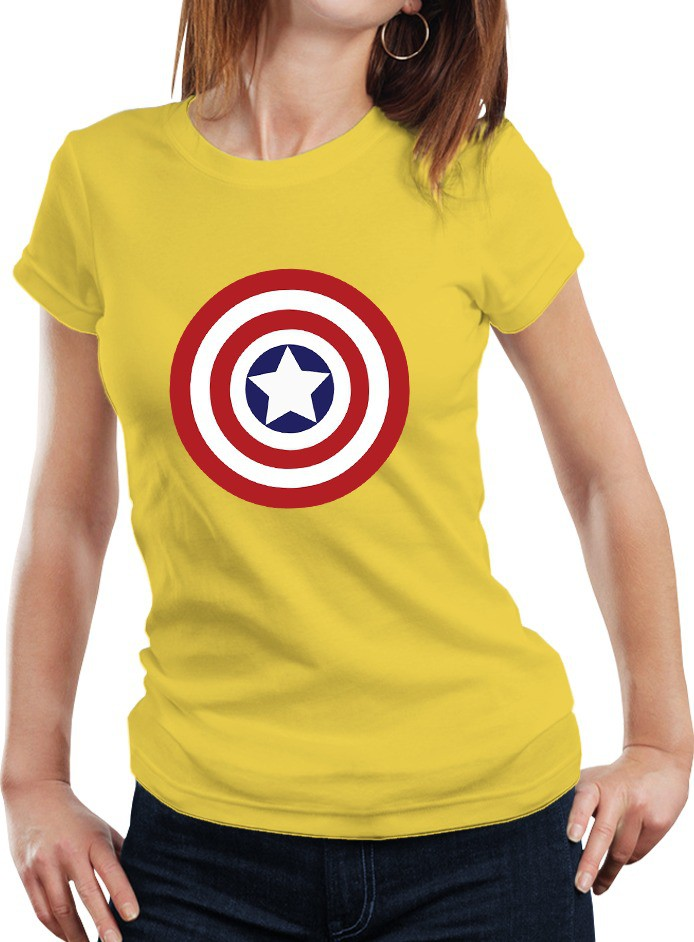 Fanideaz Printed Womens Round Neck Yellow T-Shirt