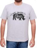 13Karma Printed Men's Round Neck Grey T-...