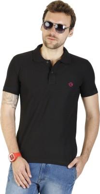 Duke Stardust Solid Men's Polo Neck Black T-Shirt