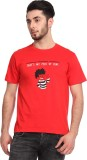 Knotees Printed Men's Round Neck Red T-S...