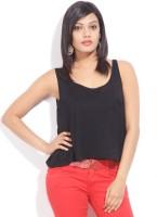 Alibi Solid Women's Round Neck Black T-Shirt best price on Flipkart @ Rs. 399