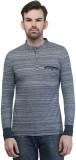 Seaboard Self Design Men's Polo Neck Gre...