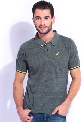 Jn Joy Printed Men's Polo Neck T-Shirt