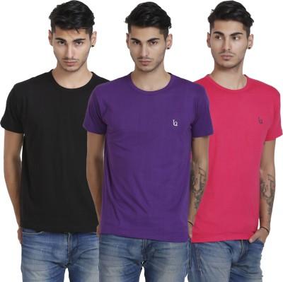 BlackCatz Solid Men's Round Neck T-Shirt