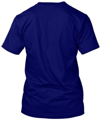 FreshMonk Graphic Print Men's Round Neck Blue, Light Blue T-Shirt