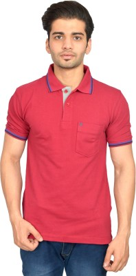 Urban Trail Solid Men's Polo Neck Maroon T-Shirt