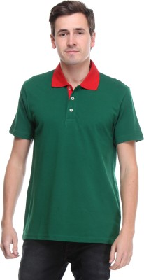 OPG Solid Men's Polo Neck Green T-Shirt