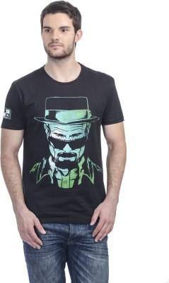 Breaking Bad Printed Men's Round Neck Black T-Shirt