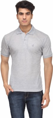 Rico Sordi Solid Men's Polo Neck Grey T-Shirt