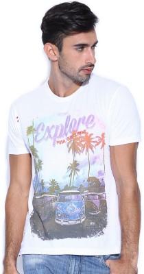 HRX Printed Men's Round Neck T-Shirt
