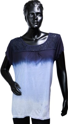 Starsy Solid Women's Round Neck Multicolor T-Shirt
