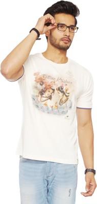 Do U Speak Green Printed Men's Round Neck White T-Shirt